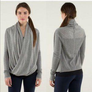 Lululemon Iconic Sweater Wrap Heathered Grey Small